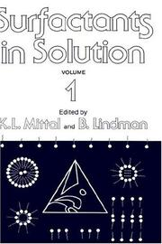 Cover of: Surfactants in solution |