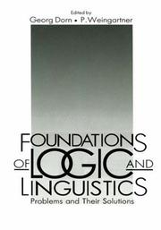 Cover of: Foundations of logic and linguistics
