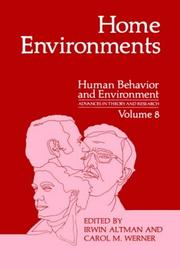 Cover of: Home environments |