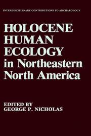 Cover of: Holocene human ecology in northeastern North America |