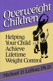 Cover of: Overweight children