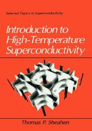 Cover of: Introduction to high-temperature superconductivity