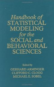 Cover of: Handbook of statistical modeling for the social and behavioral sciences |