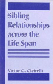 Cover of: Sibling relationships across the life span