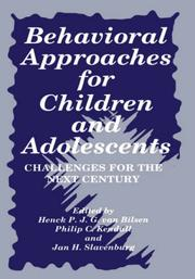 Behavioral Approaches for Children and Adolescents (Language of Science)