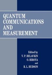 Cover of: Quantum communications and measurement