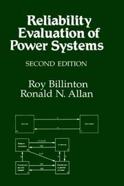 Cover of: Reliability evaluation of power systems