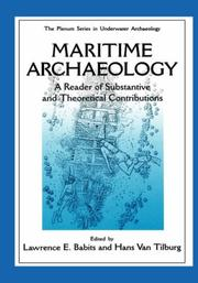 Cover of: Maritime Archaelogy |