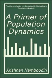 Cover of: A primer of population dynamics