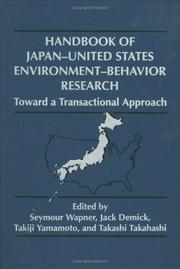 Cover of: Handbook of Japan-United States environment-behavior research |