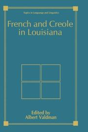 Cover of: French and Creole in Louisiana