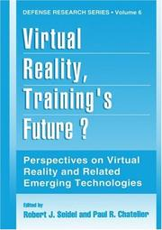 Cover of: Virtual reality, training