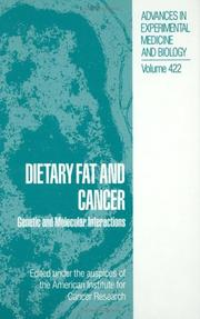 Cover of: Dietary fat and cancer |
