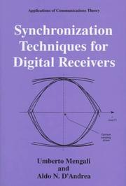 Cover of: Synchronization techniques for digital receivers | Umberto Mengali