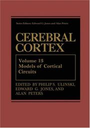 Cover of: Cerebral Cortex: Volume 13