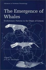 Cover of: The emergence of whales |