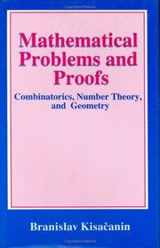 Cover of: Mathematical problems and proofs | Branislav KisaДЌanin
