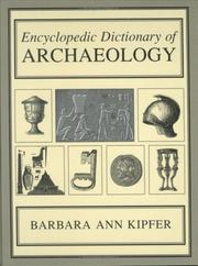Cover of: Encyclopedic dictionary of archaeology