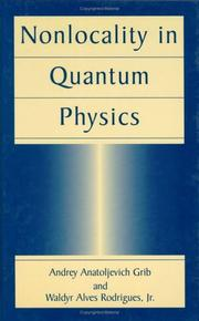 Cover of: Nonlocality in quantum physics