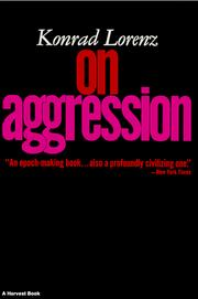 Cover of: On Aggresion