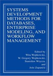 Cover of: Systems Development Methods for Databases, Enterprise Modeling, and Workflow Management |