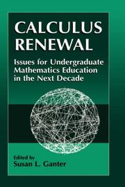 Cover of: Calculus Renewal | Susan L. Ganter