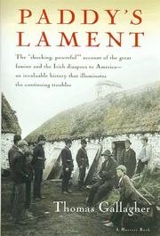 Cover of: Paddy's Lament, Ireland 1846-1847