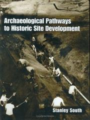 Cover of: Archaeological pathways to historic site development