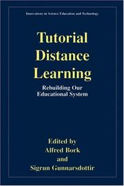 Cover of: Tutorial distance learning |