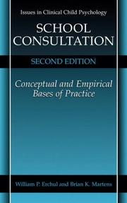 Cover of: School consultation | William P. Erchul