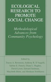 Cover of: Ecological Research to Promote Social Change |