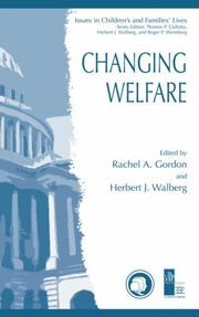 Cover of: Changing welfare
