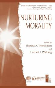 Cover of: Nurturing Morality (Issues in Children's and Families' Lives)