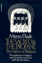 Cover of: The sacred and the profane