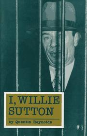 Cover of: I, Willie Sutton