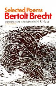 Cover of: Selected Poems | Bertolt Brecht