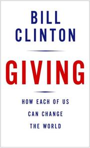 Cover of: Giving: How Each of Us Can Change the World