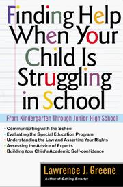 Cover of: Finding help when your child is struggling in school