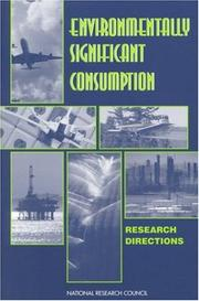 Cover of: Environmentally Significant Consumption |