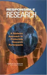 Cover of: Responsible Research |