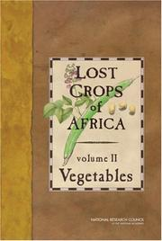 Lost Crops of Africa by National Research Council (U.S.)
