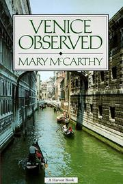 Cover of: Venice Observed (Art and Places)