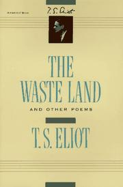 Cover of: The Waste Land and Other Poems | T. S. Eliot