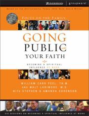 Cover of: Going Public with Your Faith | William Carr Peel
