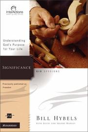 Cover of: Significance: Understanding God's Purpose for Your Life (Interactions)