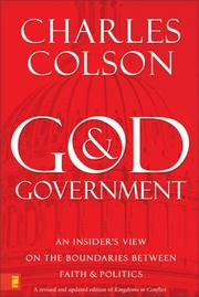 Cover of: God and government: an insider's view on the boundaries between faith and politics