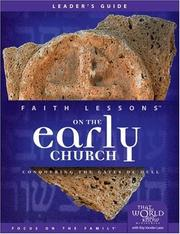 Cover of: Faith Lessons on the Early Church (Church Vol. 5) Leader's Guide