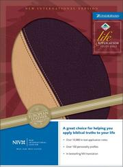 Cover of: NIV Life Application Study Bible (New International Version) |