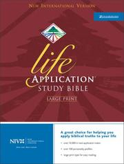 Cover of: NIV Life Application Study Bible, Large Print, Indexed |