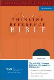 Cover of: NIV Thinline Reference Bible, Thumb Indexed (New International Version) |